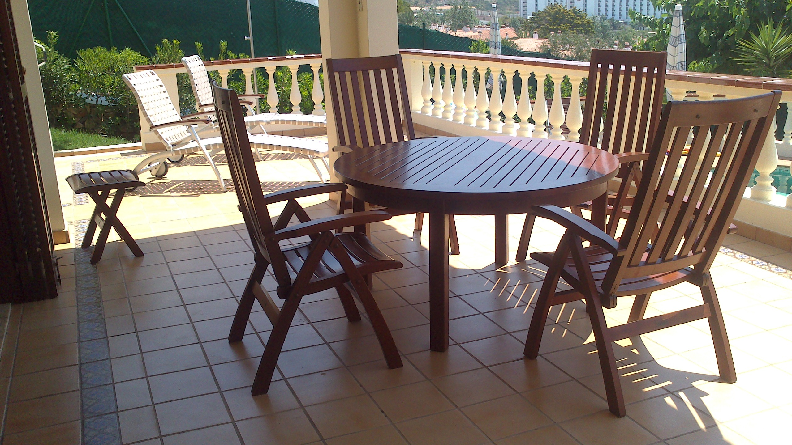 Restauracion Carpinteria Exterior Teka Puerta Cochera Y  # Muebles Teka Jardin