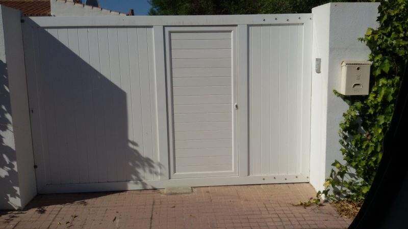 puerta exterior aluminio