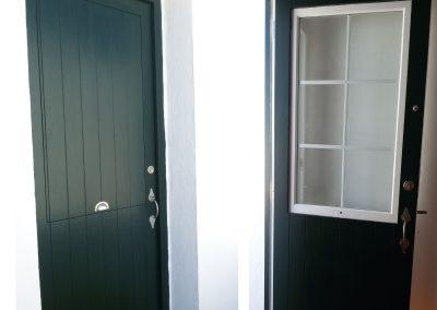 puerta de exterior madera