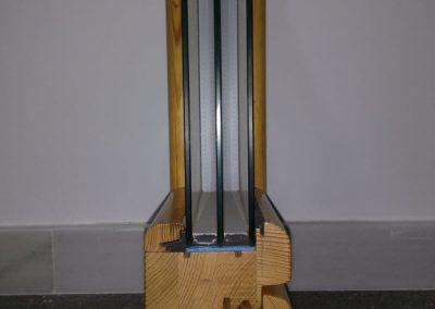 ventana madera seccion